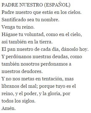 Текст на испанском языке