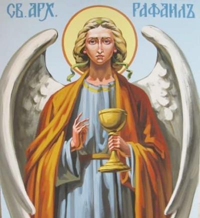 Архангел Рафаил на небесах