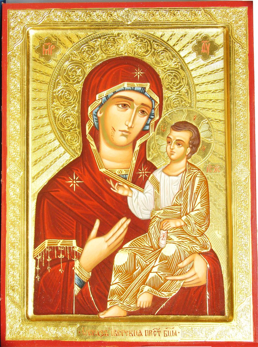 Икона Иверской Богоматери старинная