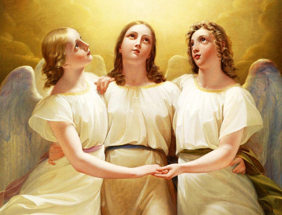 Три ангела молят за души